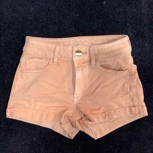 Millennial pink shorts